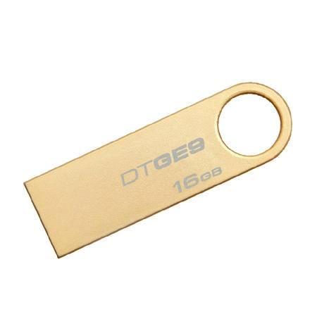 金士顿(Kingston)DT GE9 16GB 金属U盘 金色亮薄