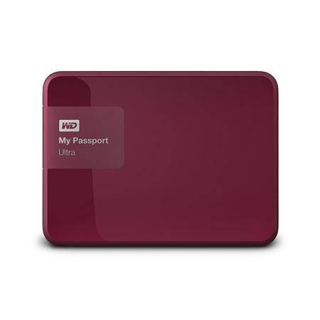 WD西部数据 移动硬盘 USB3.0 My Passport Ultra 2TB 升级版