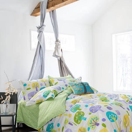 Johnson乔森 床上四件套 宜家风全棉四件套 被套200*230cm 1.5/1.8米床适用