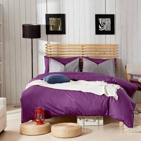Johnson乔森 高支高密 纯色双拼全棉活性四件套 纯棉床上用品 适用1.5/1.8米床