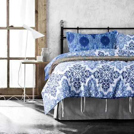 Johnson乔森 床上四件套宜家风全棉四件套 被套200*230cm 1.5/1.8米床适用