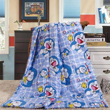 Johnson 乔森 卡通哆唻A梦全棉抱枕被 办公室沙发抱枕 靠垫 夏被