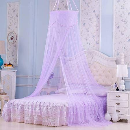 Johnson 乔森  欧式公主蕾丝圆顶吊顶蚊帐 吊挂式蚊帐 0.9-1..8米床通用