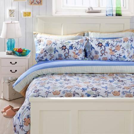 Johnson乔森 全棉喷气印花四件套 AB版纯棉床上四件套 1.5/1.8米床适用【复制】