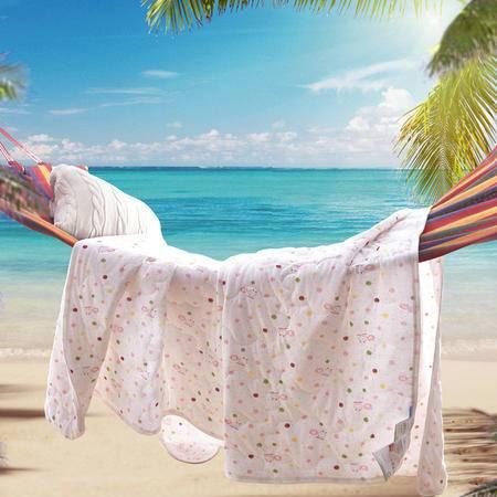 Johnson乔森 夏被 天竺棉针织夏凉被 全棉单双人空调被 裸睡神器  1.8米