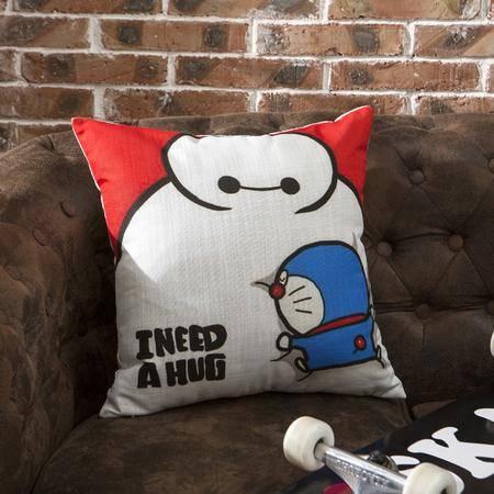 Johnson乔森 超萌卡通大白抱枕 靠枕 办公室沙发抱枕靠垫 45*45多款可选