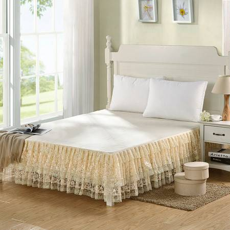 Johnson 乔森 床上用品蕾丝床裙公主床裙雅韵古雅 韩版床裙床罩单件席梦思保护套
