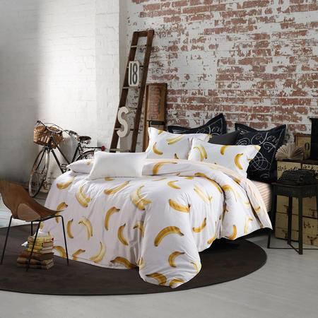 Johnson乔森 全棉活性印花四件套 纯棉家纺床上四件套 1.5/1.8米床使用