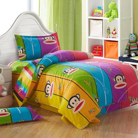 Johnson乔森 卡通全棉学生三件套 学生宿舍床上用品三件套 0.9-1.2米床用