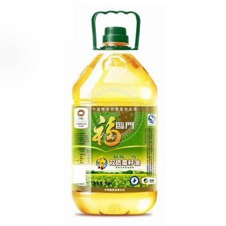 【浙江百货】福临门精炼一级双低菜籽油(桶装 5L)