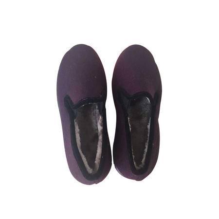A1-0178女式尼棉鞋 藏青、紫红