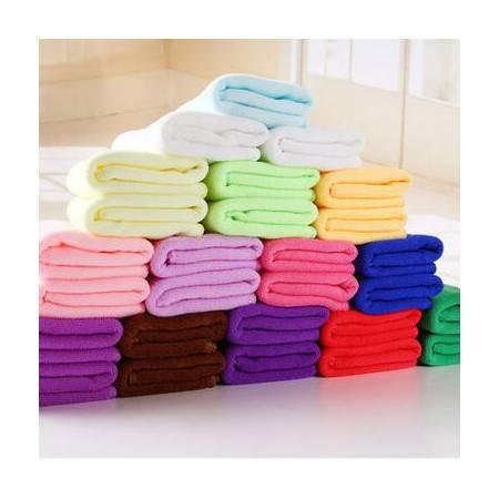 【浙江百货】纳米超细纤维洗车毛巾薄款多功能厨房清洁吸水巾  颜色随机 4条