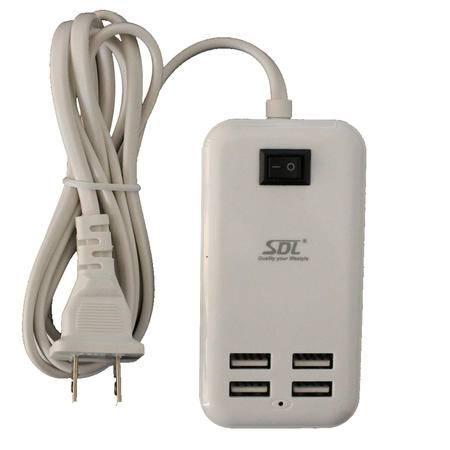 爱德龙M66 苹果 安卓手机适配器 充电器插头 4USB端口输出