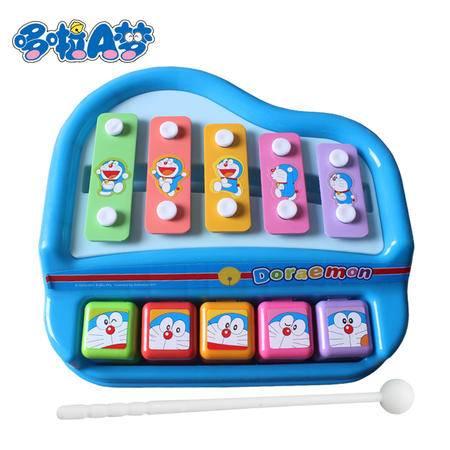 港版Doraemon哆啦A梦 儿童益智玩具游戏 可爱动漫儿童敲击音乐琴玩具