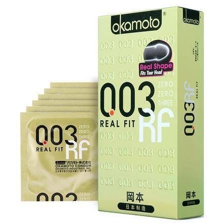 冈本避孕套003超薄黄金6片装 安全套 原装进口Okamoto