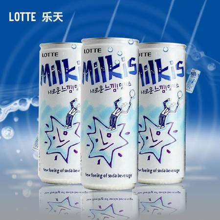 韩国进口乐天 牛奶苏打水碳酸饮料苏打水 250ml*10瓶