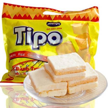 进口饼干越南面包干 tipo 正宗鸡蛋奶油面包干白巧克力面包干300g *3袋