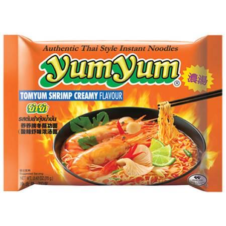 养养 yumyum冬荫功面 酸辣虾味浓汤面 70g 泰国进口
