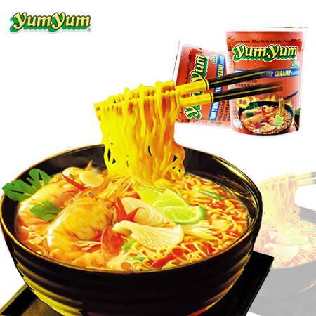 养养 yumyum冬荫功面 酸辣虾味汤面 70g 杯面装 泰国进口