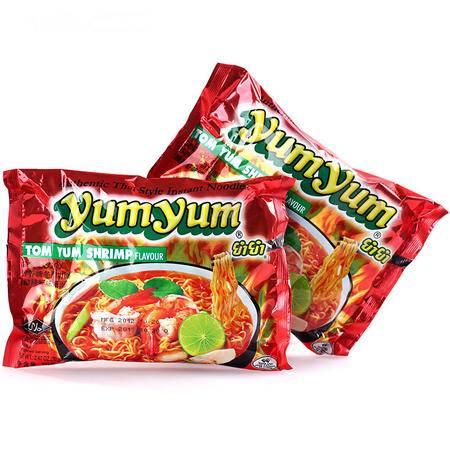 泰国进口 养养冬阴功酸辣虾味汤面70g 方便面泡面食品速食