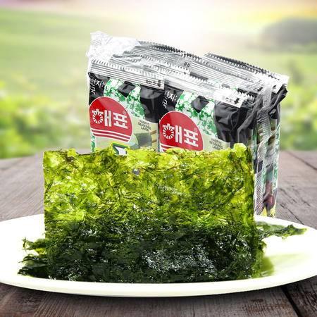 韩国进口零食 儿童休闲食品海牌海飘海苔20g即食 拌饭紫菜2g*30包