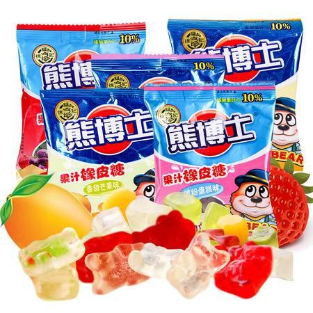 徐福记熊博士橡皮糖 多口味  软糖儿童Q弹休闲零食22g*4  口味随机