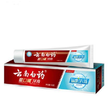 云南白药金口健牙膏益优清新 激爽薄荷型145g