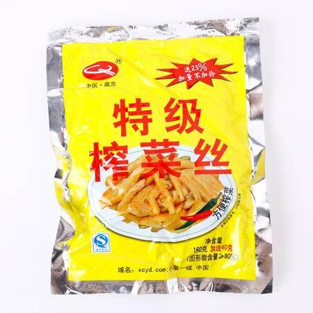 牯牛峰酱菜 小菜一碟脆口榨菜丝160g微辣口口脆咸菜