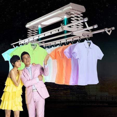 宝优妮 电动晾衣架智能遥控自动升降晒衣架阳台伸缩折叠挂衣架BYN-8027FS