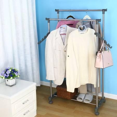宝优妮 阳台升降衣架双杆晾晒架不锈钢室内可移动晒衣架西装架置地