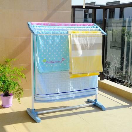 宝优妮 阳台落地毛巾架婴儿浴巾晾晒架晾衣架移动卫生间儿童尿布架