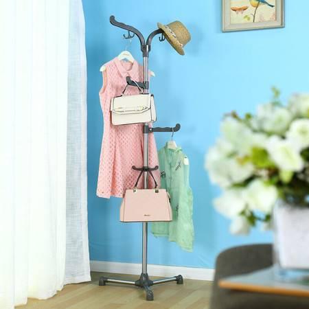 宝优妮客厅衣架 落地卧室挂衣架衣帽架创意衣服架衣物整理收纳架