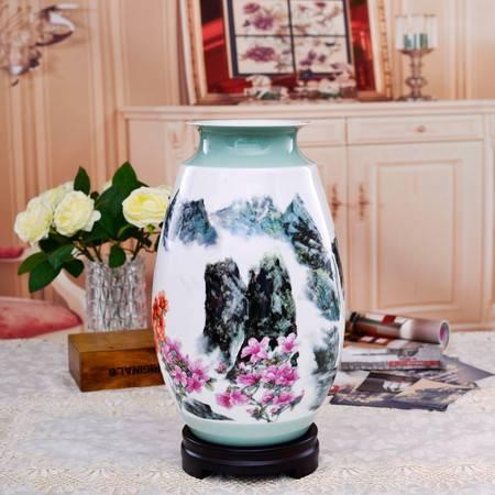 家居摆件现代景德镇插花瓶 饰品底座陶瓷花瓶 装饰简约大号大花瓶