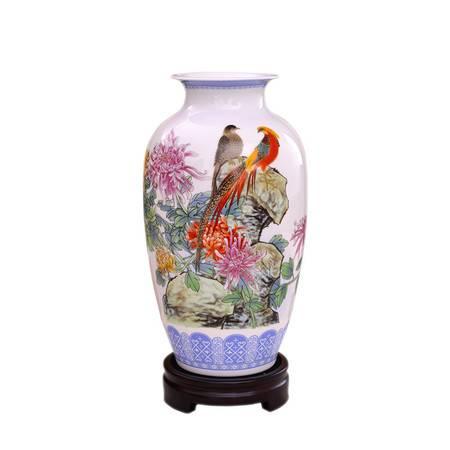 瓷博 景德镇陶瓷花瓶摆件中号客厅家居工艺品沈浮大师傲骨迎风