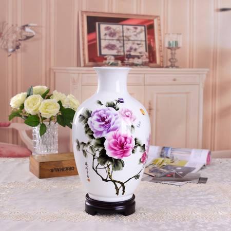 瓷博 景德镇150件陶瓷花瓶富贵吉祥牡丹花开中号指画大师戚培才作