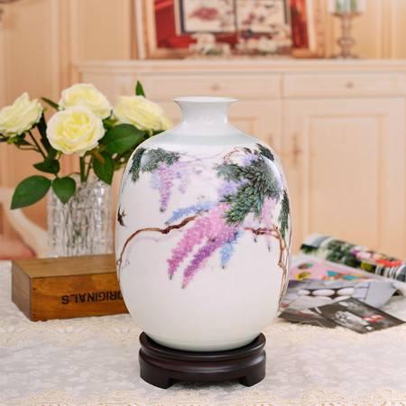 瓷博 景德镇陶瓷美术家张景寿名家倾心之作品万紫千红小瓷瓶摆件
