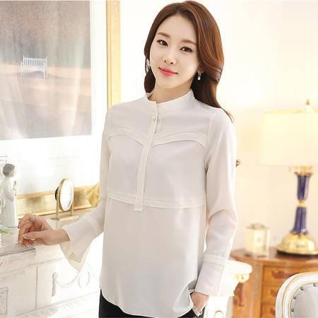 阿诗璐时尚简约大气女款长袖雪纺衫1051
