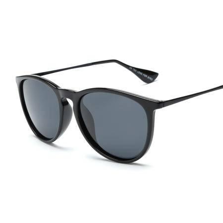 梵妮莎 防紫外线圆框超轻时尚潮流女款偏光太阳镜2004-M
