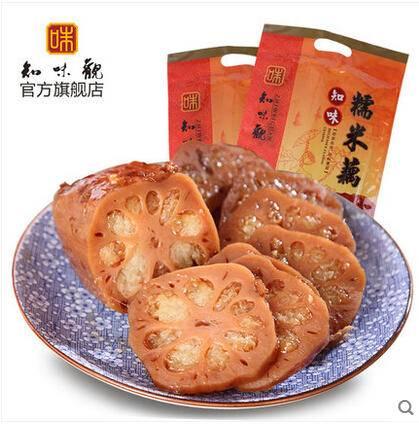 知味观糯米藕 桂花蜜汁莲藕 杭州特产真空素熟食甜糖藕400g 藕段