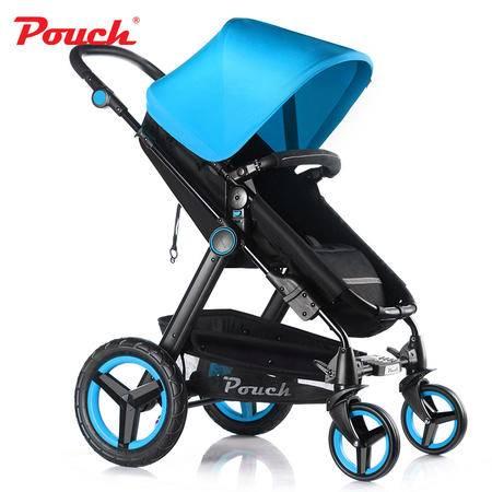 Pouch婴儿推车高景观婴儿车可躺可坐避震四轮宝宝童车手推车P69