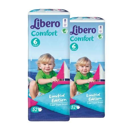 进口丽贝乐纸尿裤 婴儿纸尿裤 宝宝尿不湿6号XL52片*2包