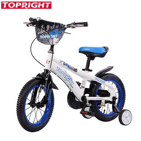 TopRight途锐达蜘蛛侠儿童自行车小孩子单车12寸童车