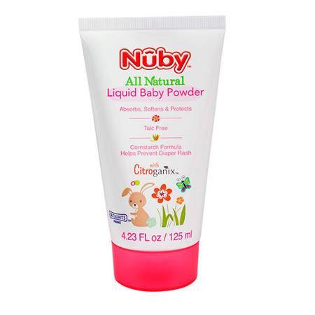 nuby/努比 新品橘子宝宝液态婴儿爽身粉儿童痱子粉 125ml