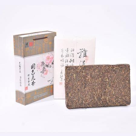 安化黑茶 2KG 传统手工制作 简装 茯砖茶 黑茶