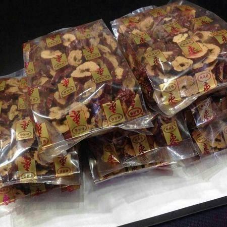 【最新活动:买五送一!】山东特产 乐陵富硒枣枣子 金丝枣片 100gX4袋(甜脆可口营养)包邮