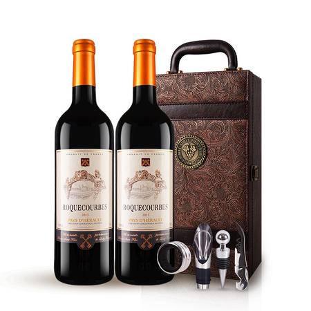 法国原瓶进口红酒 布洛克干红葡萄酒 凤尾礼盒装