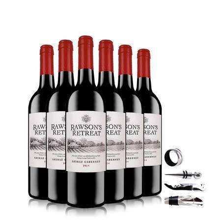 澳大利亚奔富洛神山庄西拉卡本妮干红葡萄酒六支四件套组合装