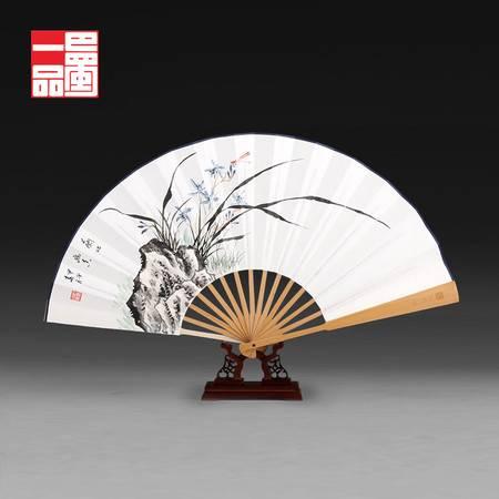 巴蜀一品手绘荣昌折扇古典中国风纸扇文玩宣纸扇子礼品摆件包邮