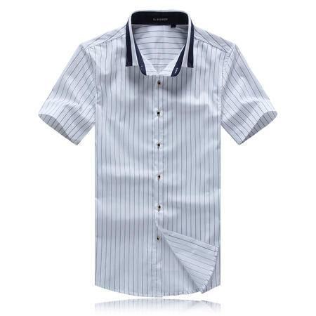 MSSEFN  2016夏款男装修身时尚休闲短袖男衬衫