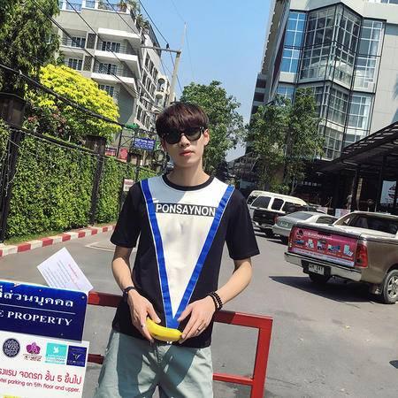 MSSFEN2016夏季新款男士个性字母印花短袖T恤